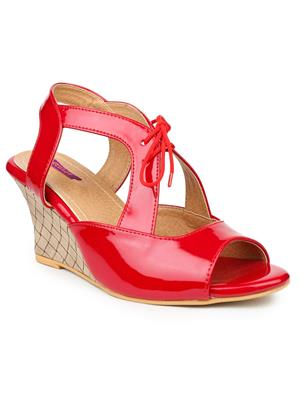 FIORELLA B-7002-RED Women Wedges
