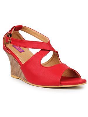 FIORELLA B-7008-RED Women Wedges