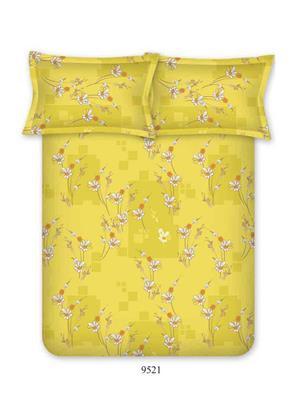 Bombay Dyeing Elements 9521 Yellow Double Bedsheet