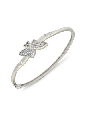 Mahi Fashion Jewellery Butterfly White Stone Bangle