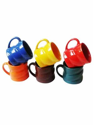 Buyers Beach BB177  Attractive Twist-Design multicolor Cup Set Of-6