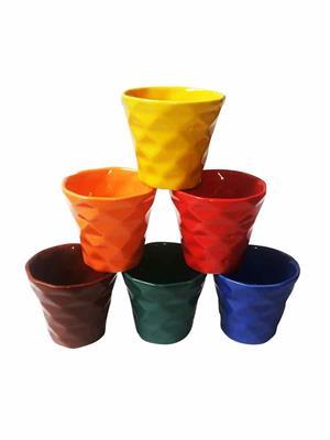 Buyers Beach BB178  Precious dimond-design multicolor Cup Set Of-6
