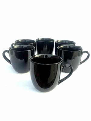 Buyers Beach BB185  Ever-Green Elegant Black Mug Set Of-6