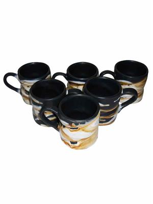 Buyers Beach BB210  Eligent Black Spiral Mug Set Of-6