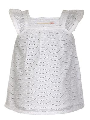 Budding Bees BB762 White Girl Dress
