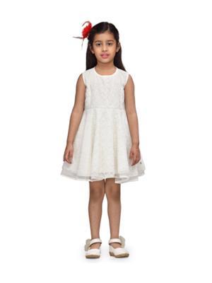 Budding Bees BB827 White Girl Dress