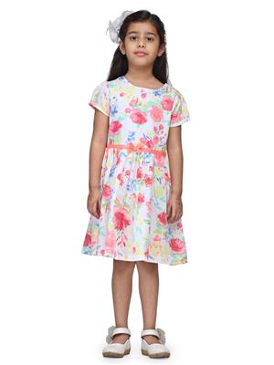Budding Bees BB881 Red Floral Girl Dress