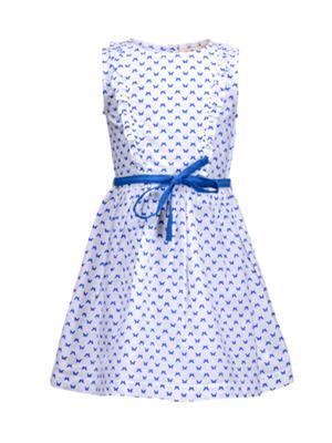 Budding Bees BB915 Blue & White Girl Dress