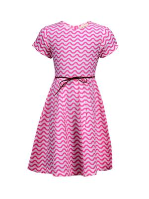 Budding Bees BB918 Pink Striped Girl Dress