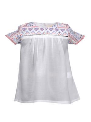 Budding Bees BB919 White Girl Dress