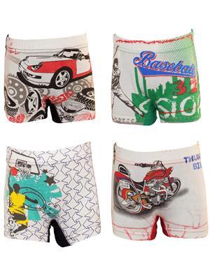 Lilsugar Bbt01 Multicolored Boy Panty Set Of 4
