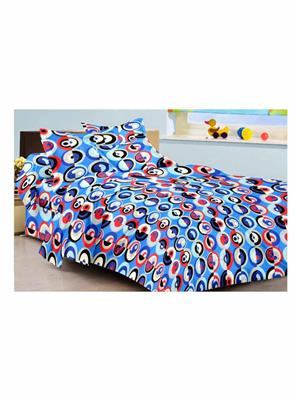 Rolycreation BCA2065 Multi Color Double Bedsheet