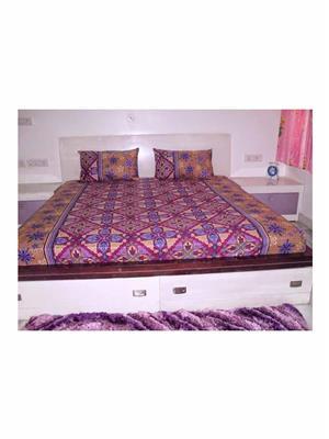 Rolycreation BCA2087 Multi Color Double Bedsheet