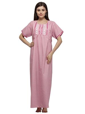 Vedvid BCFD-PK  Pink Cotton Nighty