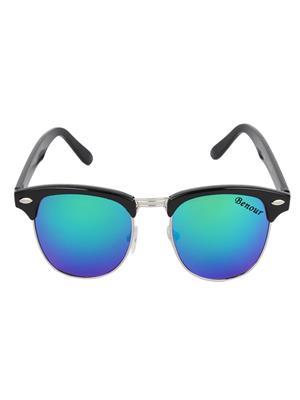Benour BENCBM001 Blue Unisex Wayfarer Sunglasses