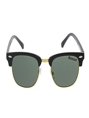 Benour BENCBM002 Green Unisex Wayfarer Sunglasses