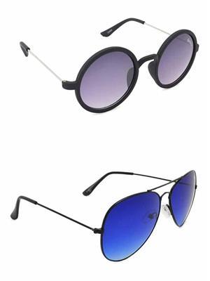 Benour BENCOM011 Purple And Blue Unisex Sunglasses Combo of 2
