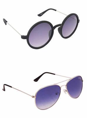 Benour BENCOM015 Purple And Blue Unisex Sunglasses Combo of 2