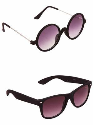 Benour BENCOM040 Purple And Purple Unisex Sunglasses Combo of 2