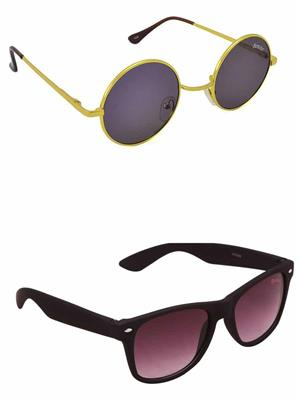 Benour BENCOM045 Blue And Purple Unisex Sunglasses Combo of 2