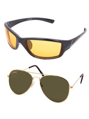 Benour Bencom057 Yellow, Green Unisex Sunglasses Set Of 2