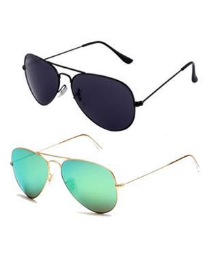 Benour Bencom060 Multicolored Unisex Sunglasses Set Of 2