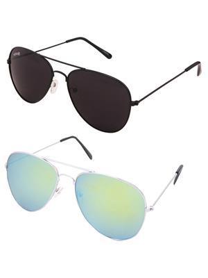 Benour Bencom063 Multicolored Unisex Sunglasses Set Of 2