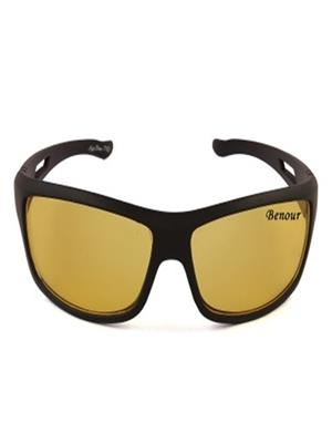 Benour Bensnt003 Yellow Unisex Wrap-around Sunglasses