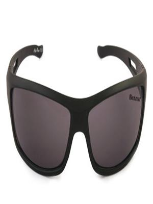 Benour Bensnt005 Black Unisex Wrap-around Sunglasses