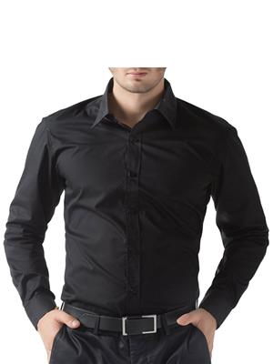 Being Fab Bfbl Black Men Formal Shirt