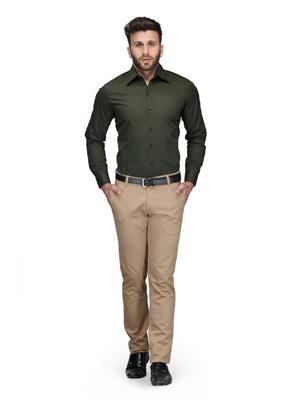 Being Fab Bfdr Green Men Formal Shirt