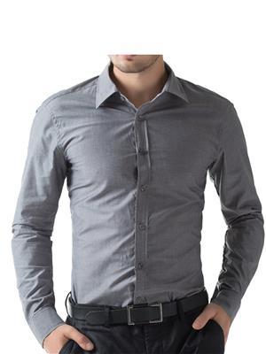Being Fab Bfgr Grey Men Formal Shirt