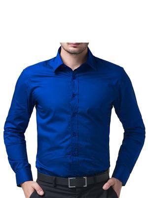 Being Fab Bfrb Blue Men Formal Shirt
