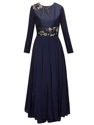 Isha Enterprise BHV-3318 Blue Women Gown