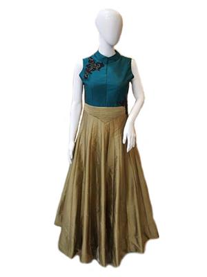 Isha Enterprise BHVWS-1100 Multicolored Women Gown