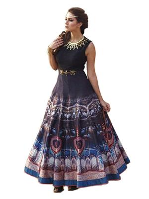 Isha Enterprise BHVWS-1111 Multicolored Women Gown