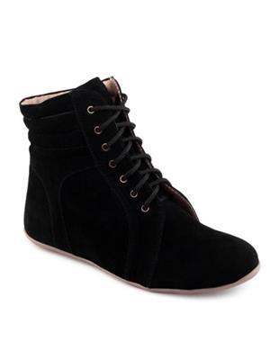 Red BravoS Bk-1008Long Black Women Boots