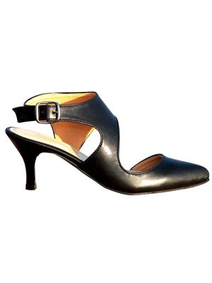 PrideS Walk Black01 Black Women Pumps