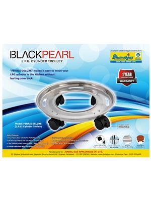Blackpearl BLACK PEARL_ Ferris_Deluxe_set _2 steel Set of 2 Blackpearl Stainless Steel Cylinder Trol