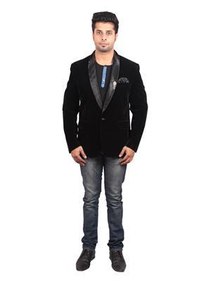 Shaurya-F Blavel01 Black Men Blazer