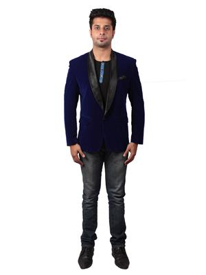 Shaurya-F Blavel01 Blue Men Blazer