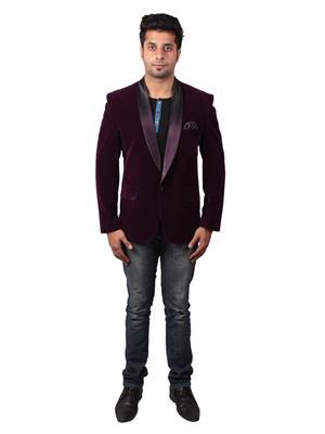 Shaurya-F Blavel01 Wine Men Blazer