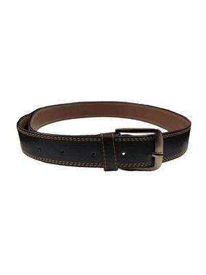 Ansh Fashion Wear BLK-B Black Men Belt