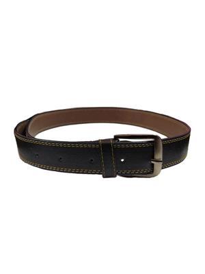 Ansh Fashion Wear BLK-C Black Men Belt