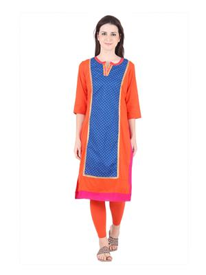 Bitterlime Blrg11541 Multicolored Women Kurta
