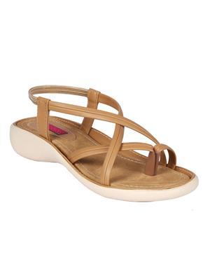 Mango People Bls-017-Bg Beige Women Flat Sandals