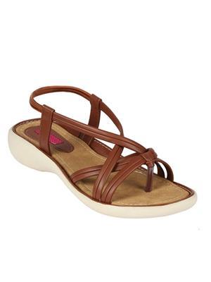Mango People Bls-017-Br Brown Women Flat Sandals