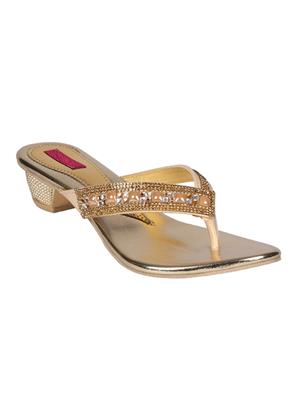 Mango People Bls-021-Gd Golden Women Heels