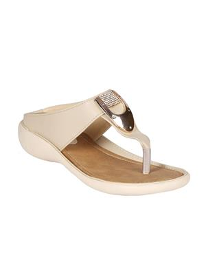 Mango People Bls-024-Cm Cream-Off White Women Flat