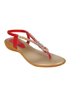 Mango People Bls-036-Rd Red Women Flat